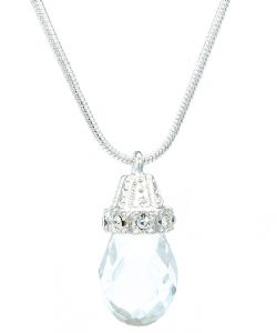 Clear Crystal Glass Bell Fashion Pendant / Necklace - Unique Gift Idea